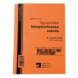 Egyszerűsített Készpénzfizetési számla B.13-373/V/PM, 50 x 3 lap