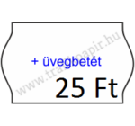 25 x 16 mm + Üvegbetét feliratos MAGYAR árazógépszalag