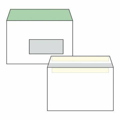 Boríték, Euro, LC/6, (162x114mm), öntapadós, jobb ablakos, bélésnyomott, 100 db / csomag