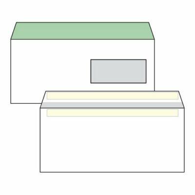 Boríték, Harmanec, LA/4, (110x220mm), öntapadós, jobb ablakos (35X90mm), bélésnyomott, 100 db/csomag