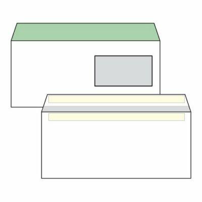 Boríték, Harmanec, LA/4, (110x220mm), öntapadós, jobb ablakos (45X90mm), bélésnyomott, 100 db/csomag