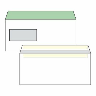 Boríték, Harmanec, LA/4, (110x220mm), öntapadós, bal ablakos (35X90mm), bélésnyomott, 100 db/csomag