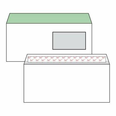 Boríték, Harmanec, LA/4, (110x220mm), szilikonos, jobb ablakos (45X90mm), bélésnyomott,100 db/csomag