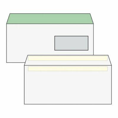 Boríték, Harmanec, LA/4,(110x220mm), környezetbarát, öntapadós, jobb ablakos (35x90mm),100 db/csomag