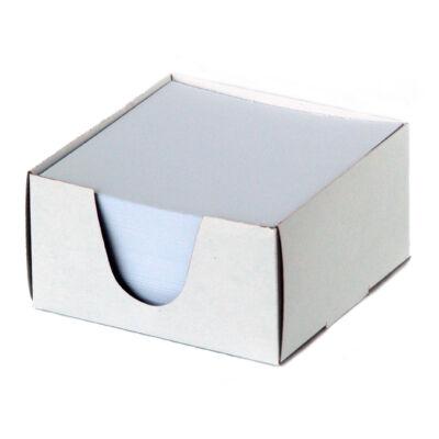 Jegyzettömb 9x9x5cm fehér papír nem ragasztott
