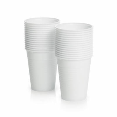 Pohár fehér műanyag 2 dl 100 db/cs