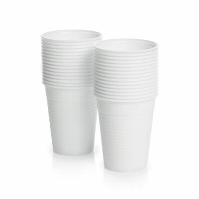 Pohár fehér műanyag 1,6 dl 100 db/cs