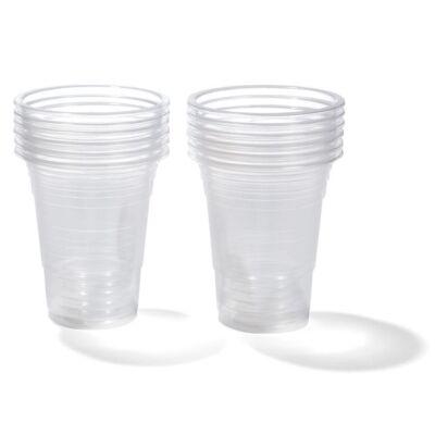 Pohár víztiszta műanyag 1,6 dl 100 db/cs