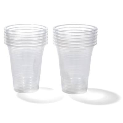 Pohár víztiszta műanyag 2 dl 100 db/cs