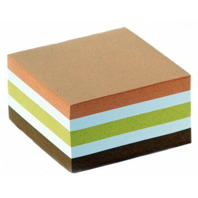 Kockatömb 9x9x5cm színes papír fején ragasztott 70 g/m2