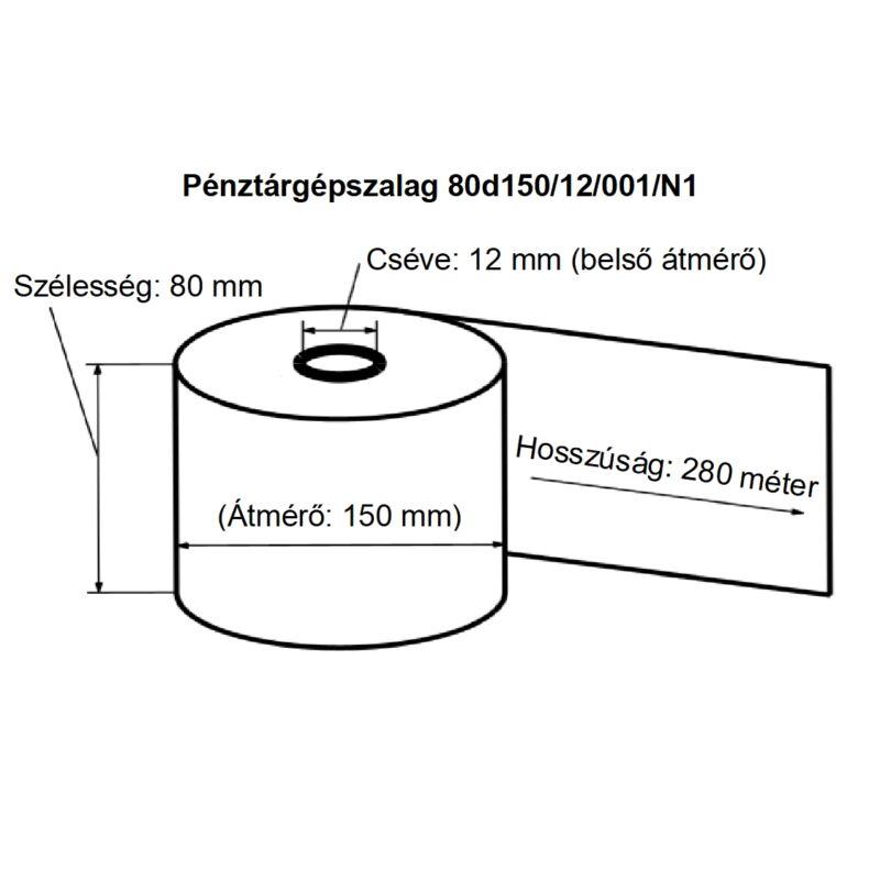 80/150/12 Schwabo nyomott thermoszalag 48-55 gsm