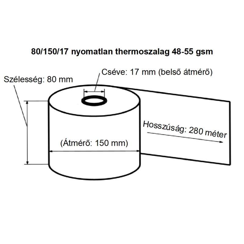 80/150/17 nyomatlan thermoszalag 48-55 gsm