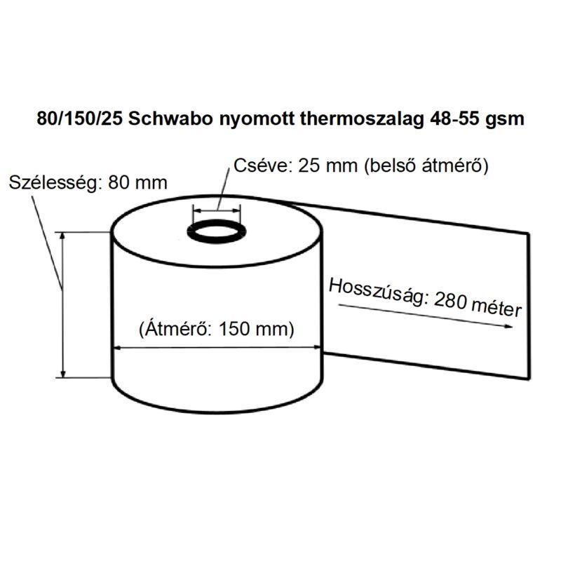 80/150/25 Schwabo nyomott thermoszalag 48-55 gsm